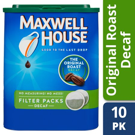 Maxwell House Original Roast Decaf Ground Coffee Filter Packs, Decaffeinated, 5.3 oz - Maxwell House Original Ground