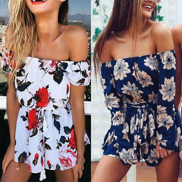 New Women Summer Beach Jumpsuit Clubwear Bodycon Playsuit Romper Hot
