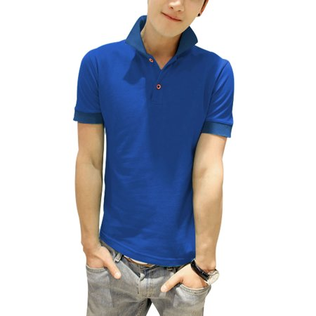 Men 39 S Slipover Buttons Closure Point Collar Soft Polo