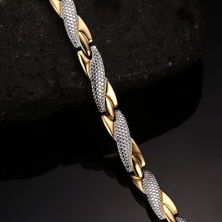 Creative Fashion Snake Print Decoration Bracelets Simple Leisure Stainless Steel Hand Chain - image 5 de 8
