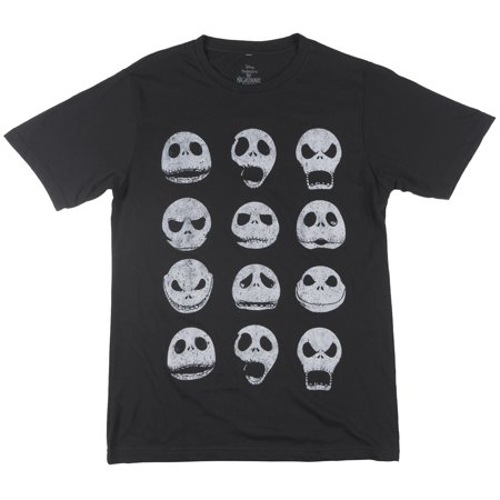Disney Nightmare Before Christmas Jack Skellington T-Shirt Tee Top Mens Black