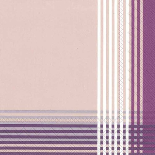 4 PACKS PAPER COCKTAIL NAPKINS/CROSS purple 4 Packs Paper Cocktail Napkins/Cross Purple