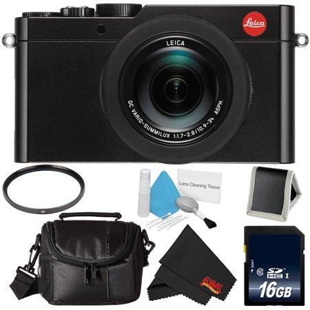 Leica D-Lux (Type 109) 12.8 Megapixel Digital Camera with 3.0-Inch LCD (Black) (18471) Bundle with 16GB Memory Card +