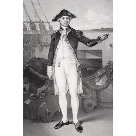 John Paul Jones 1742-1792 American Revolution Naval Officer And A Founder Of The United States Navy From Painting By Alonzo Chappel Canvas Art - Ken Welsh Design Pics (22 x 34)