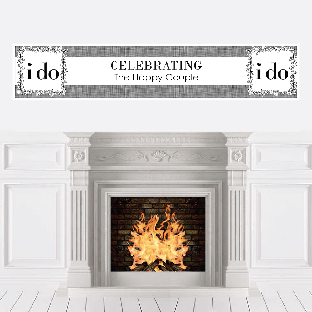 I Do - Wedding Decorations Party Banner