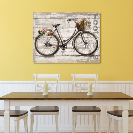 Portfolio Canvas D Cor Wheels Ii Spring By Sandy Doonan Wrapped Canvas Wall Art  30X40
