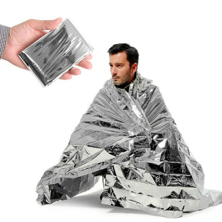 - 20 PACK - Emergency Solar Blanket Survival Safety Insulating Mylar Thermal Heat