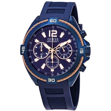 Guess Surge Chronograph Blue Dial Men's Watch W1168G4 (Rhinestone Guess Watch)