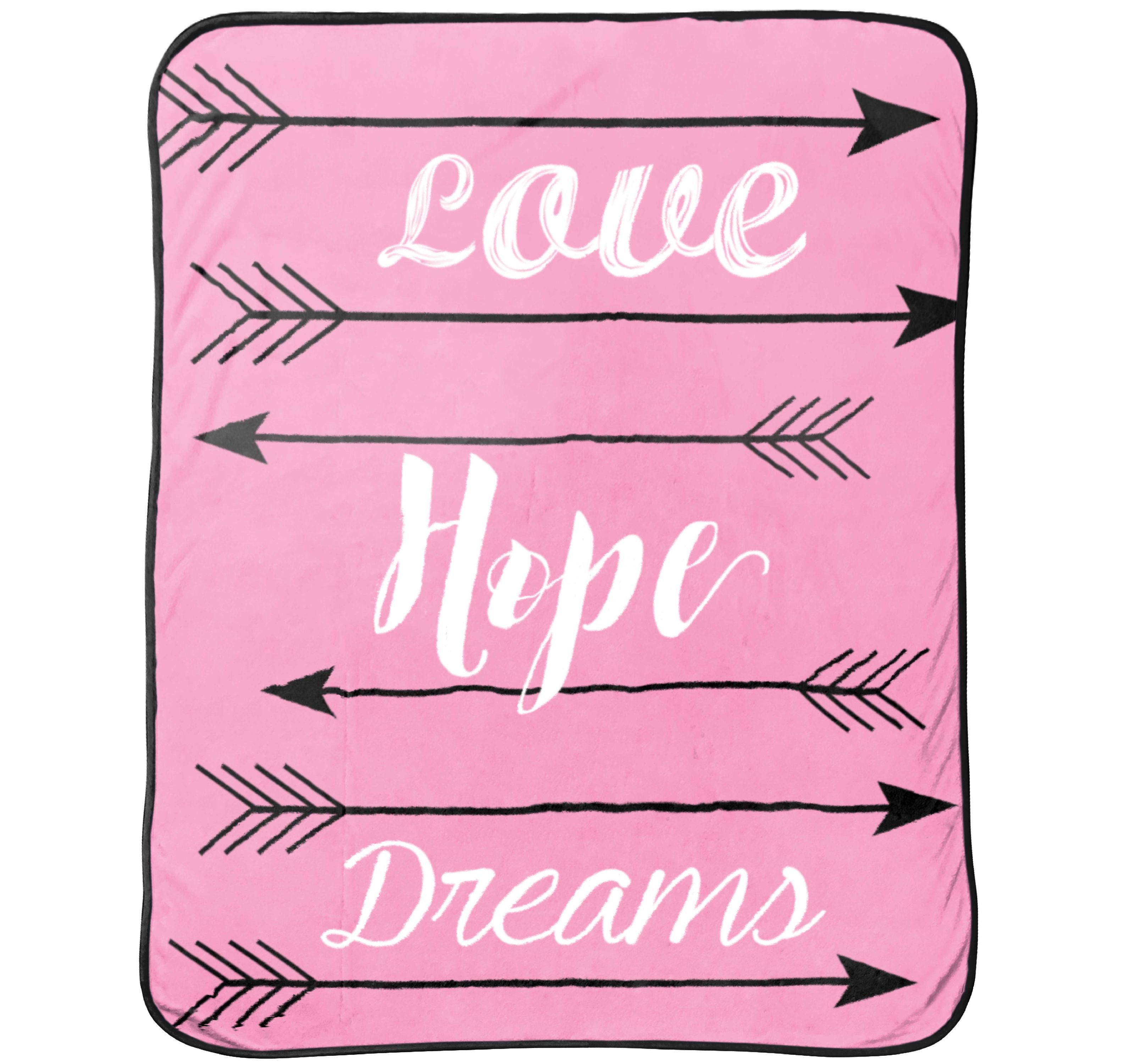 Limited Too Love Hope Dreams Silk Touch Throw
