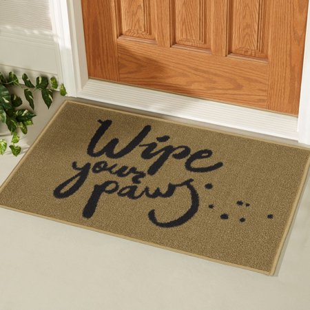 Ottomanson Usa Rugs Door Mat Collection Rectangular Wipe You Paw Dog