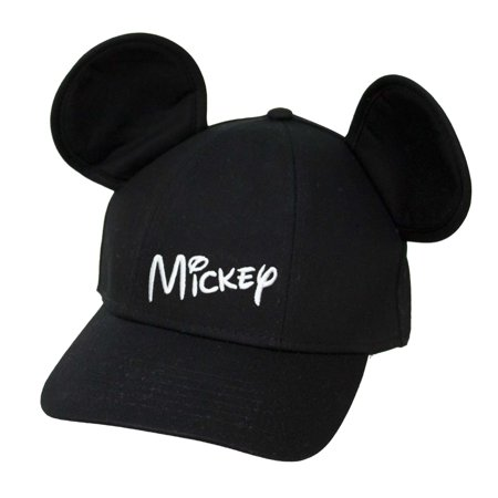 Adult Mickey Mouse Hat Baseball Cap with Ears - Black - Personalized Mickey Mouse Ears