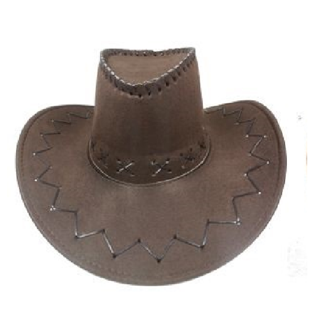 Felt Cowboy BUCKET WESTERN HAT DARK BROWN Tan Cowgirl