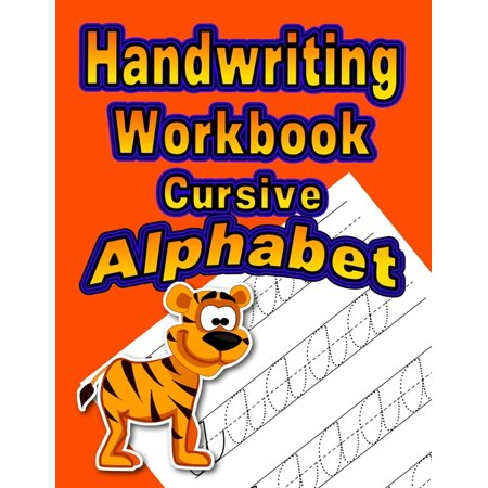 Orange: Handwriting Workbook: Cursive - Alphabet (Paperback)(Large Print) Cursive Alphabet Line