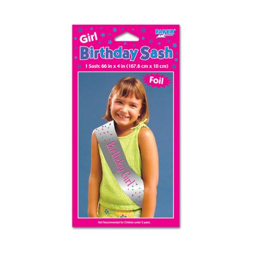 Birthday Girl Sash, 1 pk