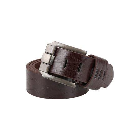 Argile homme Boucle Ardillon métal gaufré cuir ceinture robe PU - image 1 de 6
