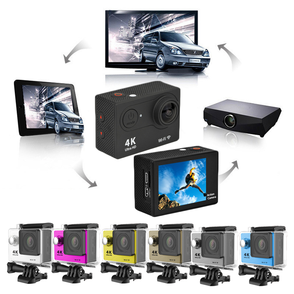 Ultra HD Mini 1080P/60fps 12MP 4K Action WiFi Sport Camera for Gopro H9
