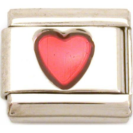 Heart Italian Charm Love Enamel  Love (Lover Italian Charm)