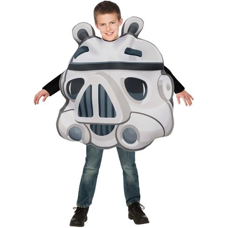 Child Angry Birds Star Wars Stormtrooper Pig Costume by Rubies 886828 (Kids Pig Costumes)