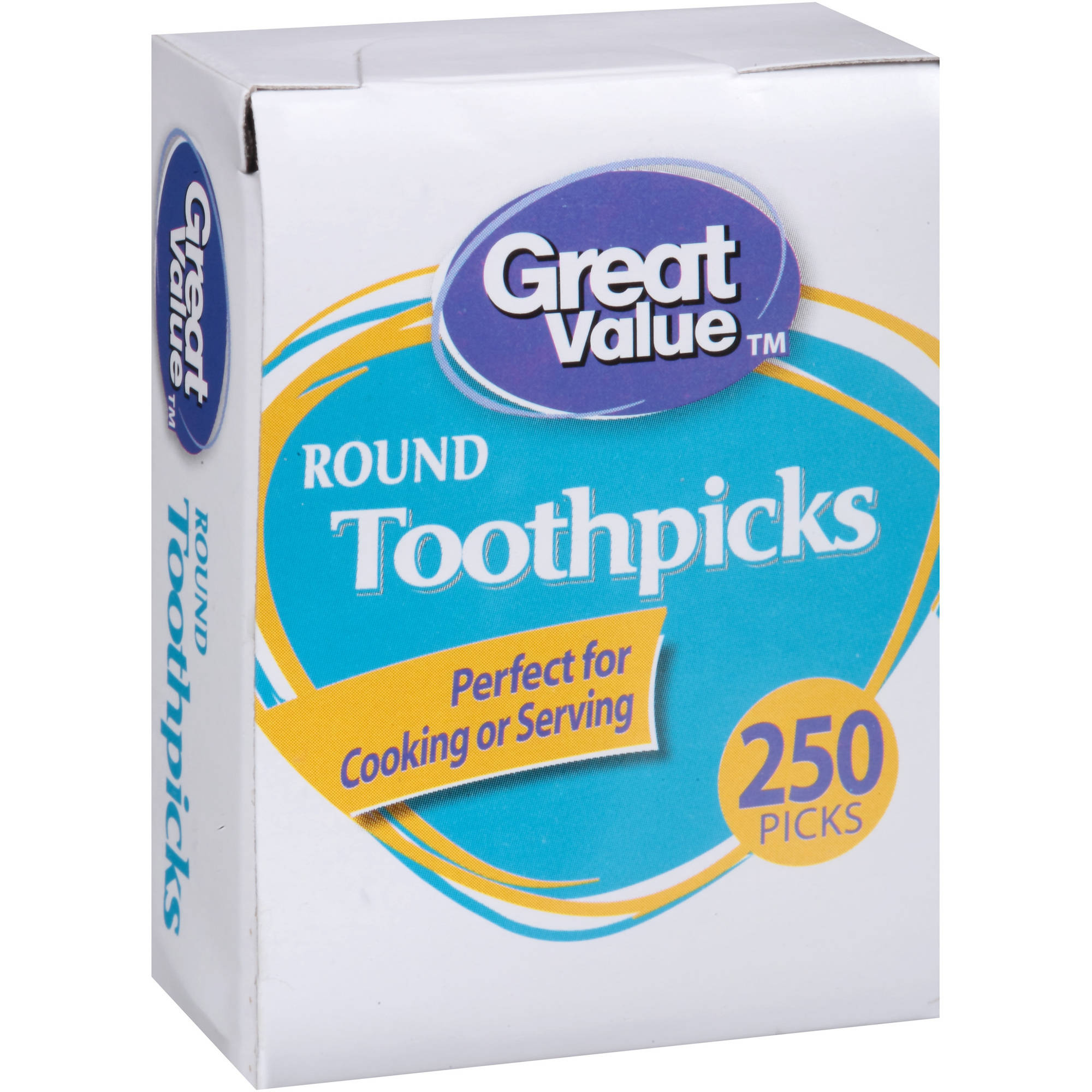 Great Value Round Toothpicks, 250 count