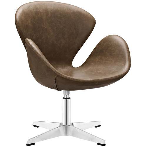 Vinyl Lounge Chair in Brown