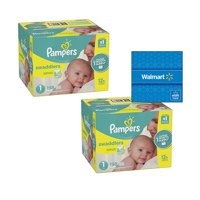 396-Ct Pampers Swaddlers Diapers Size 1 + $20 Walmart GC