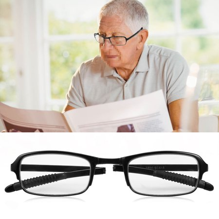 Eyeglasses With Lights (Ymiko 2 Colors 1.0/1.5/2.0/2.5/3.0/3.5/4.0 Portable Lightweight Folding Reading Presbyopic Glass, Eyeglasses, Lightweight Reading)