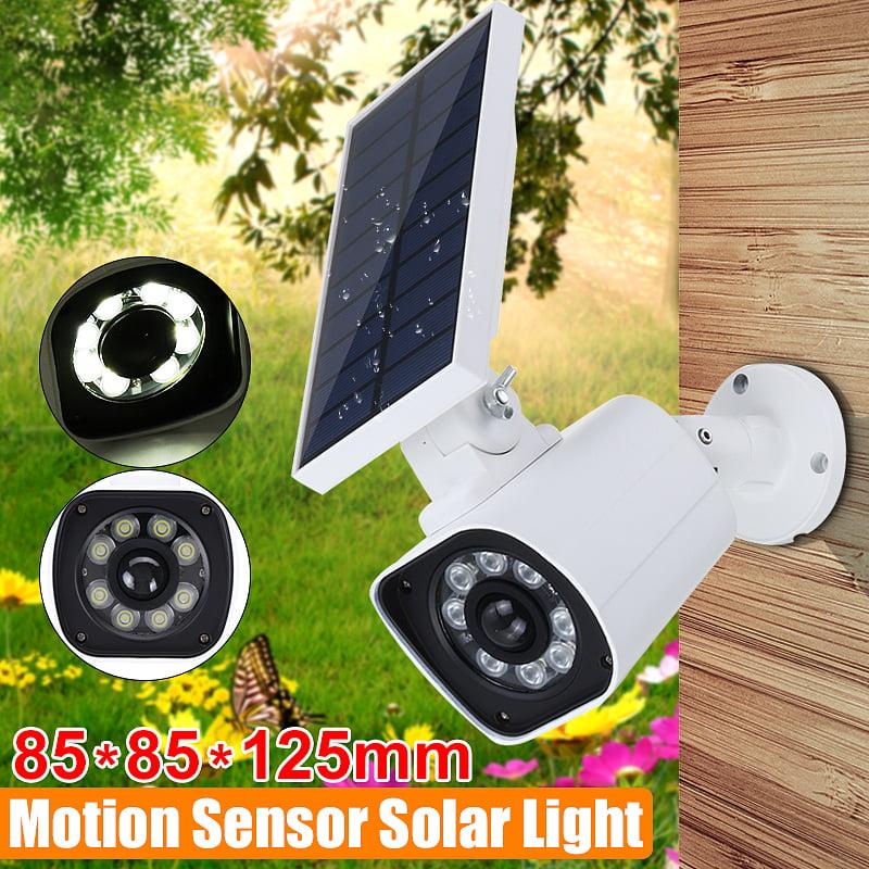 1000LM Solar Power LED Light Dummy Fake Security Camera Wall Lamp Motion Sensor