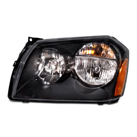 2005-2007 Dodge Magnum New Black Driver Headlight CH2502166
