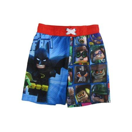64ca419f28 DC Comics - Dc Comics Little Boys Blue Batman Swim Shorts - Walmart.com