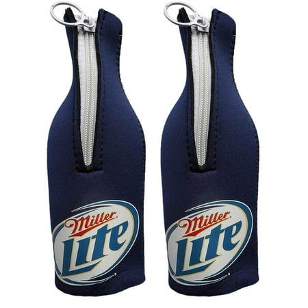 Miller Lite Logo Beer Bottle Koozies - Custom Beer Koozies