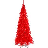 Vickerman 6.5' Red Fir Artificial Christmas Tree with 400 Red LED Lights