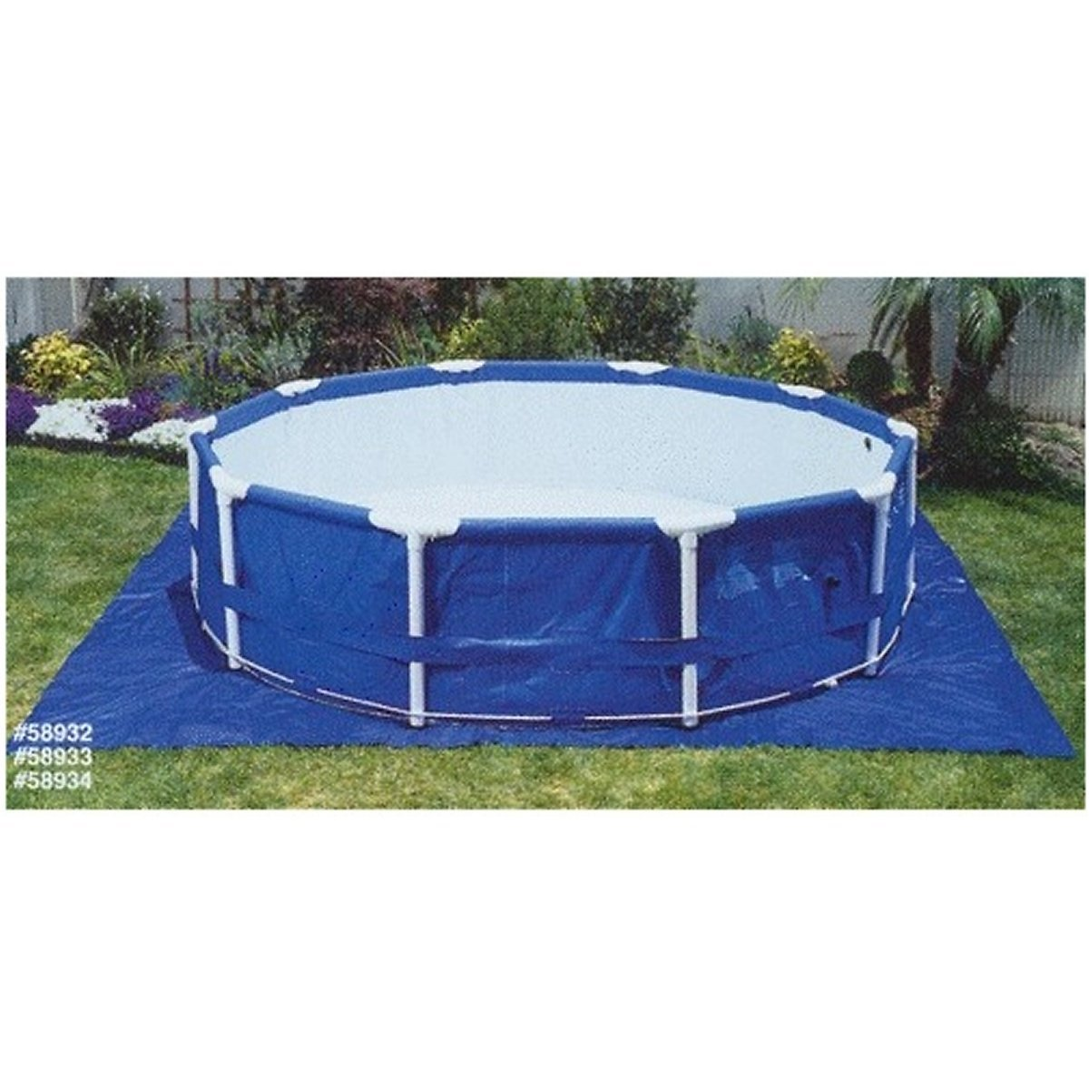 15.5 ft Square Pool Ground Cloth