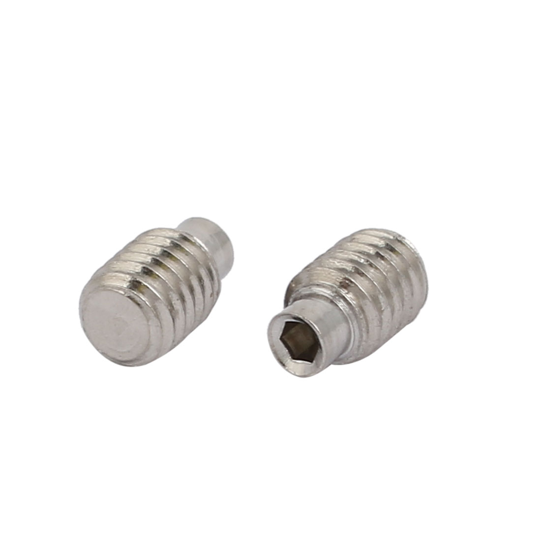 50 Pcs M4x6.7mm 304 Stainless Steel Hex Socket Drive Cylinder Point Grub Screw - image 2 of 3