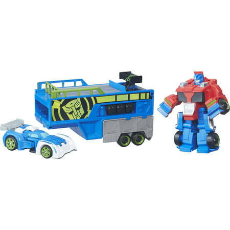 Playskool Heroes Transformers Rescue Bots Optimus Prime Racing Trailer