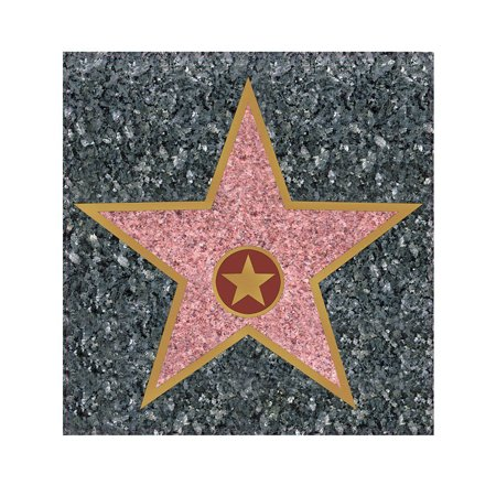 Peel 'N Place STAR Hollywood Walk Of Fame Novelty Cling for $<!---->