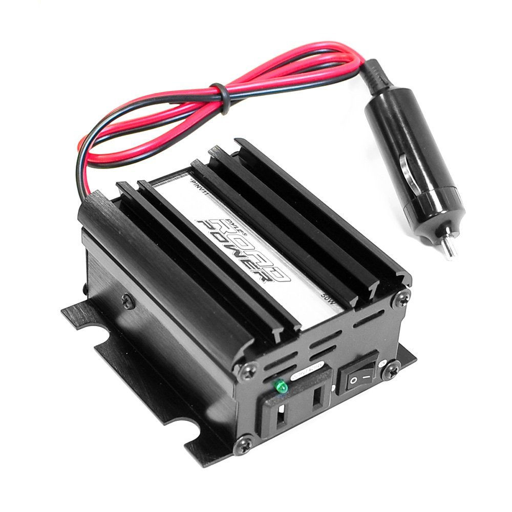 PINV11 Plug In Car 50 Watt 12V DC to 115 Volt AC Power Inverter with Modified Sine Wave, Address Waterproof Aluminum Volt IP67 3000 KDX33MBS.., By Pyle