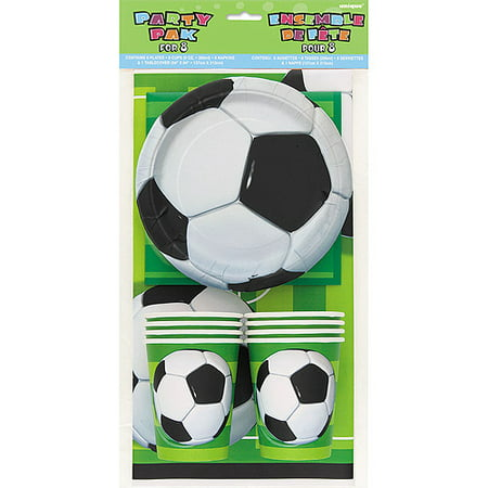 Soccer Party Kit for 8 (Soccer Themed Birthday Party Supplies)