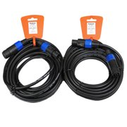 Podium Pro 2SMSF30 Set of Two 30' Pro Audio 12 Gauge Speaker Cables Male Speakon Jack to Female Speakon Jack