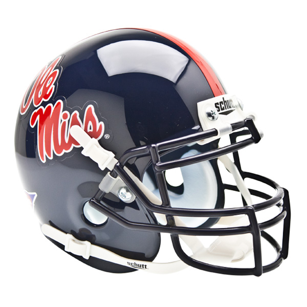 Mississippi Rebels NCAA Authentic Mini 1/4 Size Helmet