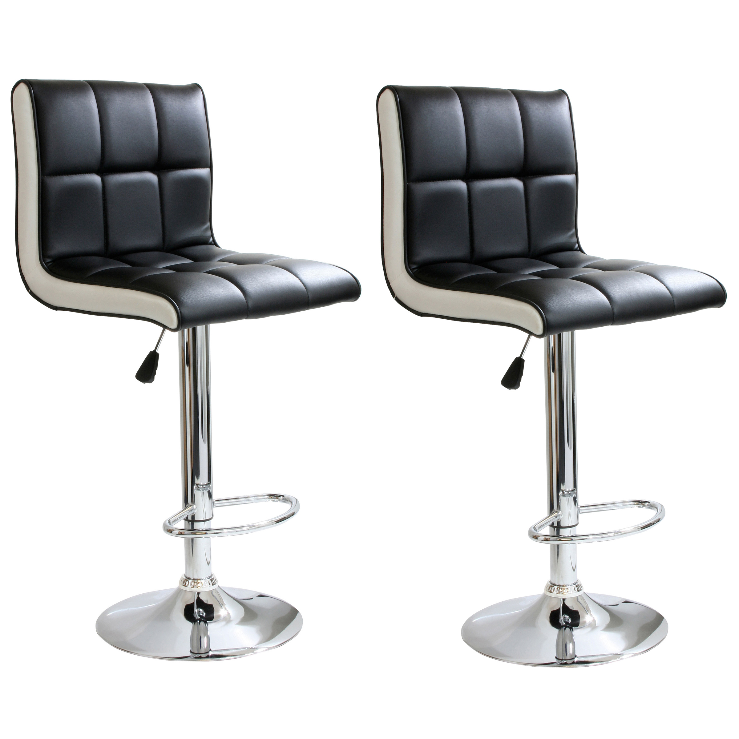 AmeriHome Modern 2 Tone Bar Stool - 2 Piece