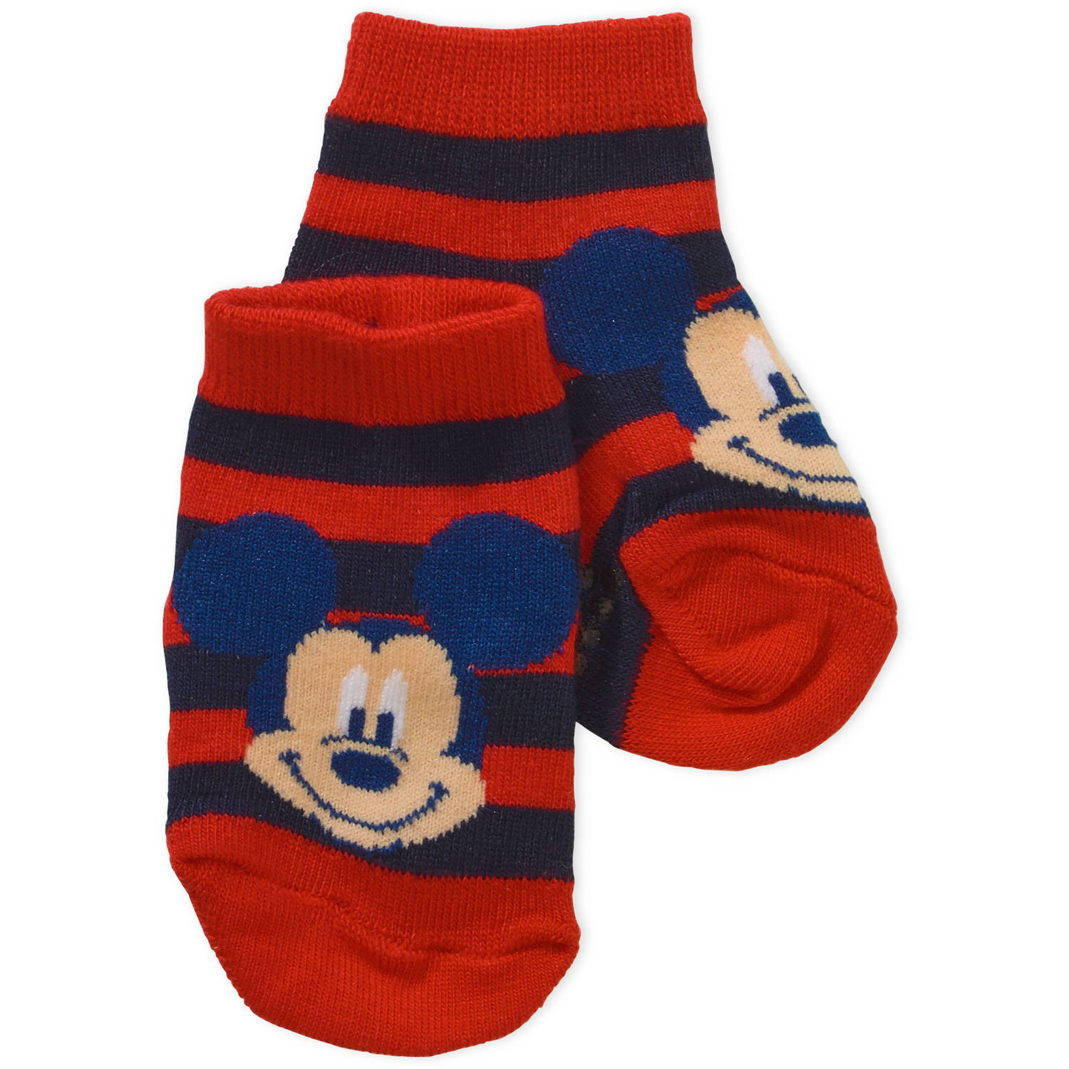 Clubhouse Mickey Mouse Newborn Baby Boy Quarter Socks, 3-Pack