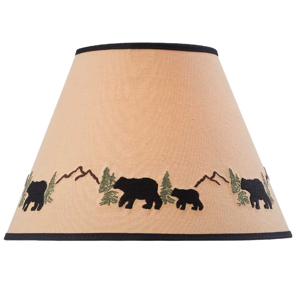 Black Bear Embriodered Lamp Shade