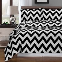 Clearance: Soft 100% Cotton Printed 3 Piece Duvet Cover Set-King/California King-Chevron