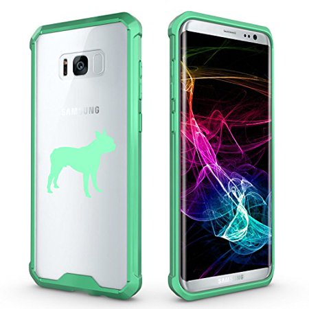 For Samsung Galaxy Clear Shockproof Bumper Case Hard Cover Boston Terrier (Mint For Samsung Galaxy