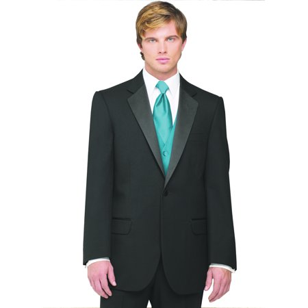 Neil Allyn 7-Piece Tuxedo with Flat Front Pants Teal Vest and - 40s Outfits