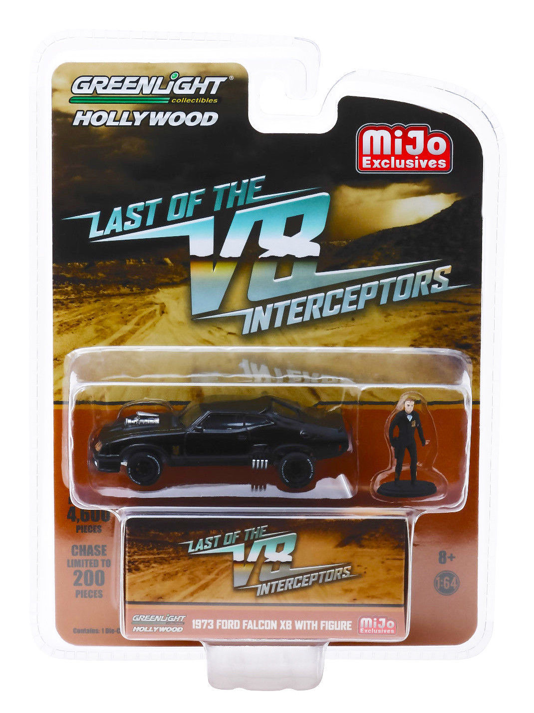 greenlight 1 64 hollywood the last of the v8 interceptors 1973 ford falcon xb with figure. Black Bedroom Furniture Sets. Home Design Ideas