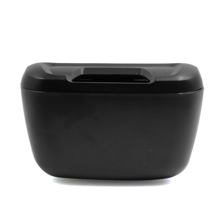 Home Office Vehicle Car Plastic Handle Open Garbage Trash Can Black