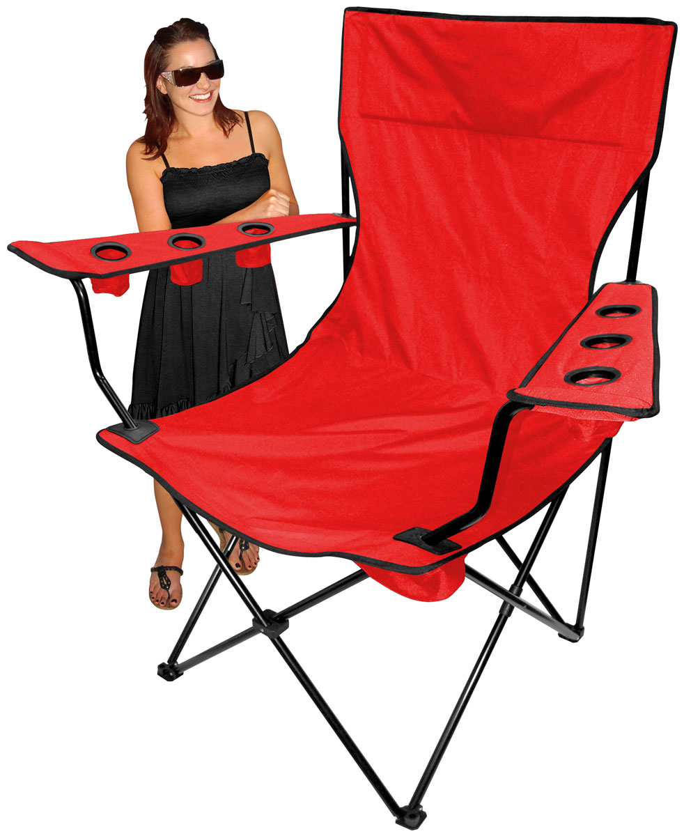 Attractive Folding King Pin Chair   Red