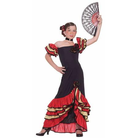 Girls Flamenco Girl Costume - Cow Costume For Girls