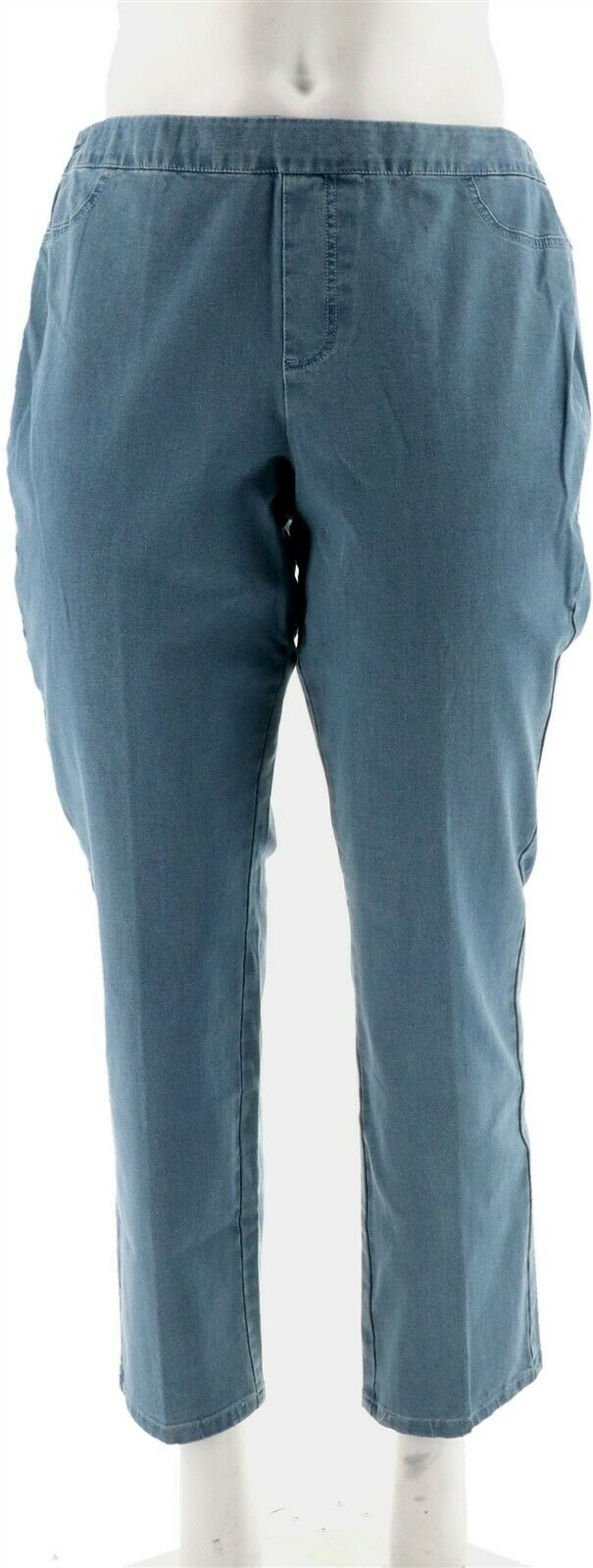24//7 Denim Straight Leg Jeans Size 20 Plus Petite Isaac Mizrahi Live